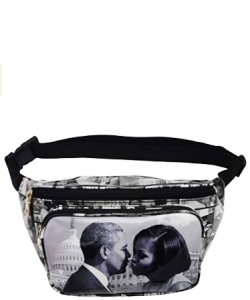 Michelle Obama Magazine Style Fanny Pack NEW Edition 28-PP3222 BLACK