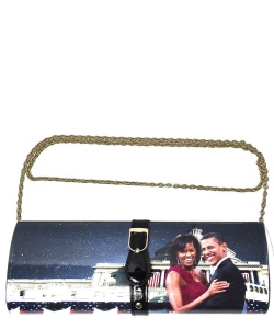 Michelle With Barack Obama Style Buckle Clutch Wallet 28PS2322  multi