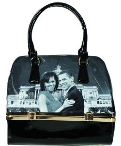 Magazine Print Patent Shoulder Design Handbag