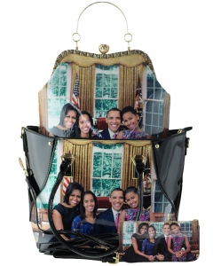 3 In 1 Chic Famous People Magazine Print Tote Handbag with Matching Wallet 28WW7211 MULTI