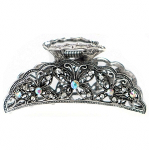 Butterfly Hair Clip 29041 X25 Silver