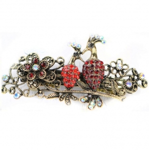 Bird Hair Clip 29048 X25 Red