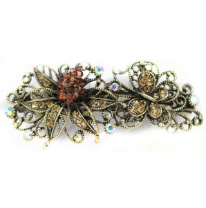 Flower Hair Clips 29051 X25 Brown