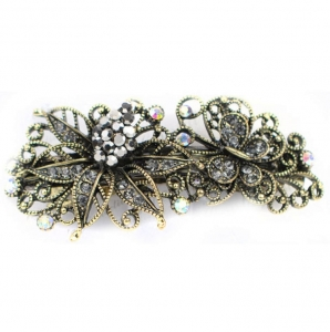 Flower Hair Clips 29051 X25 Gray