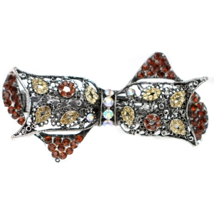 Bow Hair Clip 29057 X25 Brown