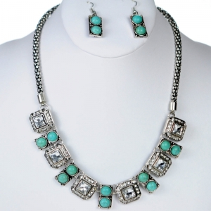 Necklace and Earring Combos 29200 X38 Turquoise