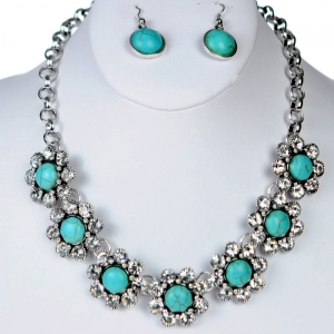 Necklace and Earring Combos 29209 X38 Turquoise