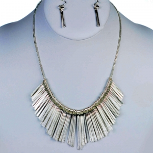 Necklace and Earring Combo 29341 X43 Silver