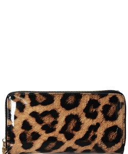 Leopard Wallet Black W4099