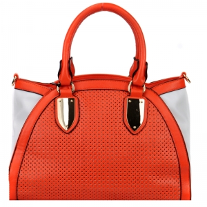 Handbag 29691 X42 Orange and White