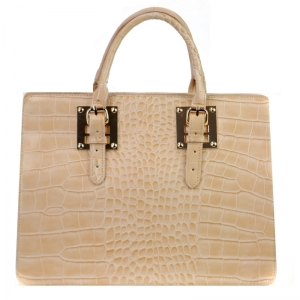 Faux Croc Skin Handbag 29895 X27 Wheat
