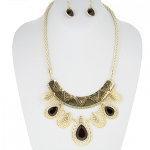 Necklace and Earring Combo 29923 X38 Brown