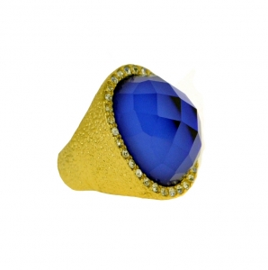 Gem Ring 29948 X43 Blue