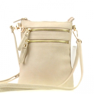 Small Zipper Messenger X33 30073 BEIGE