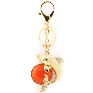 Dolphin Key Chain X26 30082 RED