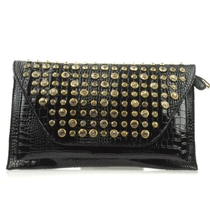 Small Alligator Clutch X13 30117 BLACK