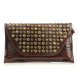 Small Alligator Clutch X13 30117 BROWN