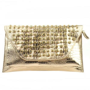 Small Alligator Clutch X13 30117 CHAMPAGNE