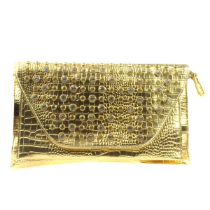 Small Alligator Clutch X13 30117 GOLD