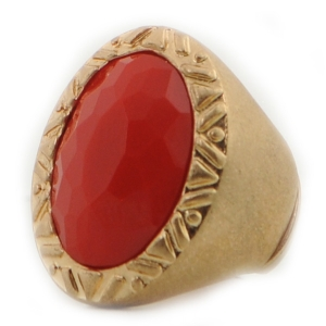 Large Stone Ring X37 30159 RED