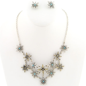Daisy Necklace X37 30294 TURQUOISE