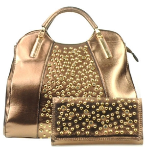 Rhinestone Bag and Wallet Combo X13 30364 30550 GOLD