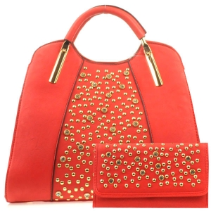 Rhinestone Bag and Wallet Combo X13 30364 30550  RED