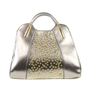 Gold Studs Satchel X13 30364 PEWTER