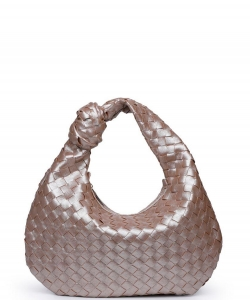 Urban Expressions Charlene Woven Hobo Bag 30391 GOLD