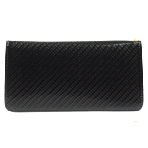 Double Compartment Textured Wallet X27 30469 BLACK