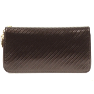 Double Compartment Textured Wallet X27 30469 BROWN