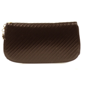 Rounded Textured Wallet X27 30476 BROWN