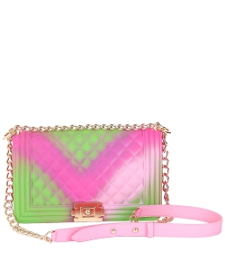 Textured Jelly Matte Crossbody Bag 3058 RAINBOW D