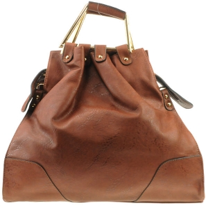 Asymetrical Handle Tote X12 30598 BROWN