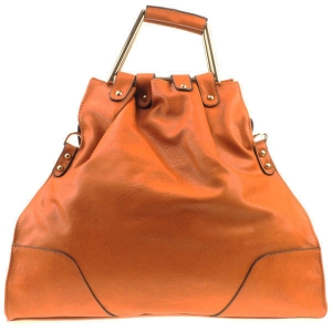 Asymetrical Handle Tote X12 30598 CAMEL