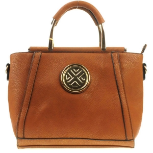 Winged Structured Tote X12 30605 BROWN