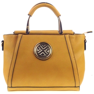 Winged Structured Tote X12 30605 MUSTARD