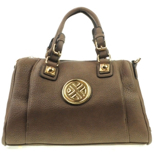 Gold Accented Satchel Bag X12 30609 STONE 1
