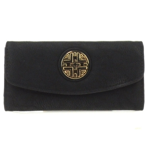 Gold Accent Flap Wallet X36 30642 BLACK