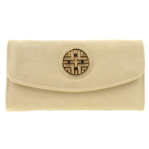 Gold Accent Flap Wallet X36 30642 TAUPE