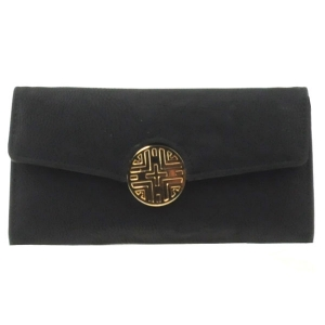 Gold Button Wallet X36 30646 BLACK