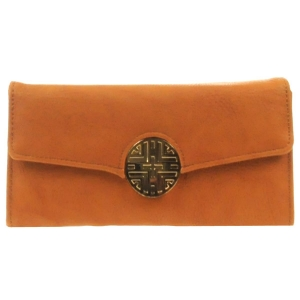Gold Button Wallet X36 30646 BROWN