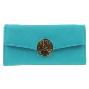 Gold Button Wallet X36 30646 TURQUOISE