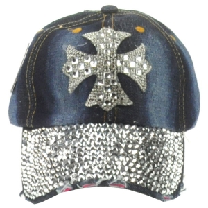 Cross Rhinestone Cap X26 30680