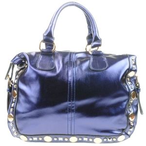Studded Metallic Handbag AD 30710 BLUE