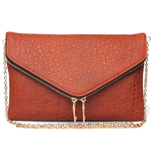 Zipper Pocket Flap Messenger UE 30761  COGNAC