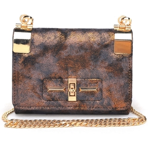 Natalya Metallic Sparkle Small Messenger UR 30789 10392HX BRONZE