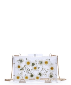 Urban Expressions Fiore Evening Bag 30834 WHITE
