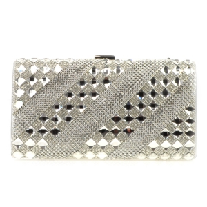 Stone Pattern Evening Bag X26 30909 SILVER