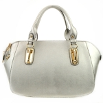 Gold Accentuated Handles Tote X36 30975 SILVER